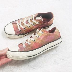 Converse Missoni pink plaid low top sneakers new condition sz6